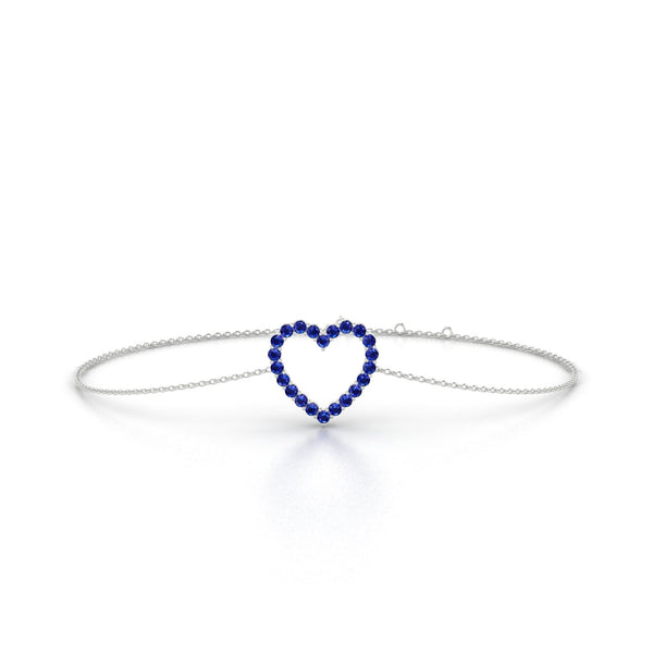 Amour Saphir | Ronde 1.5 mm Or Blanc 18k