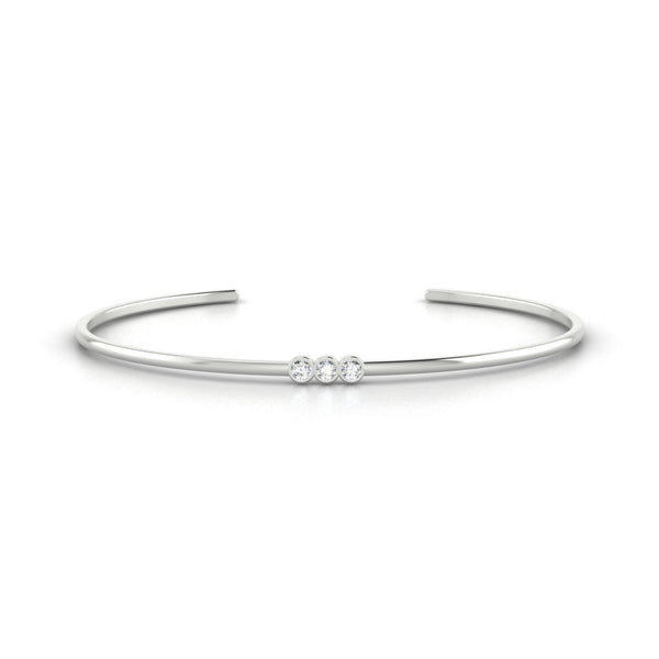 Appoline Diamant | 2.5 mm Or Blanc 18k Ronde