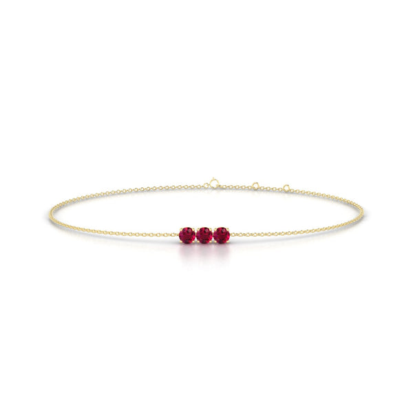 Clymene Rubis | Ronde 3 mm Or Jaune 18k