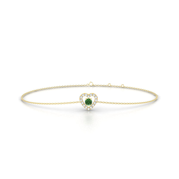 Desir Tourmaline verte | Ronde 3 mm Or Jaune 18k