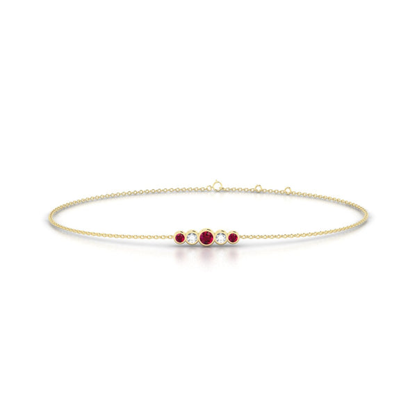 Eole Rubis | Ronde 2.5 mm Or Jaune 18k