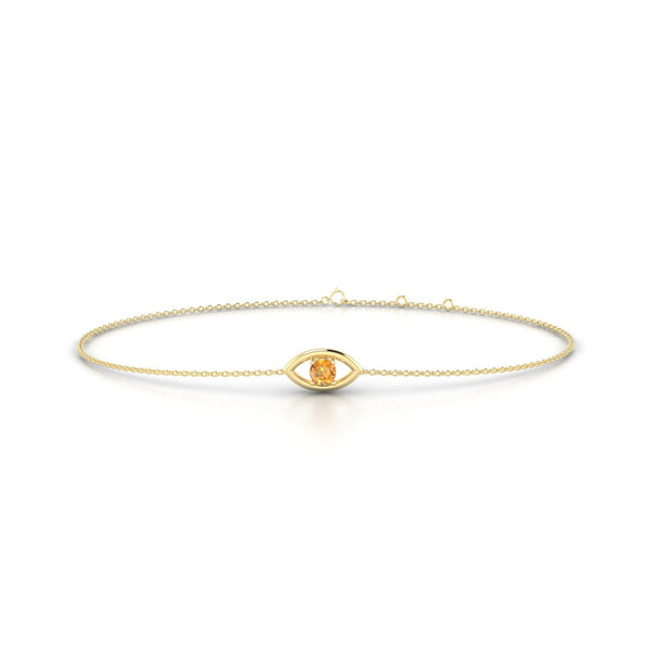 Era Citrine | Ronde 3 mm Or Jaune 18k
