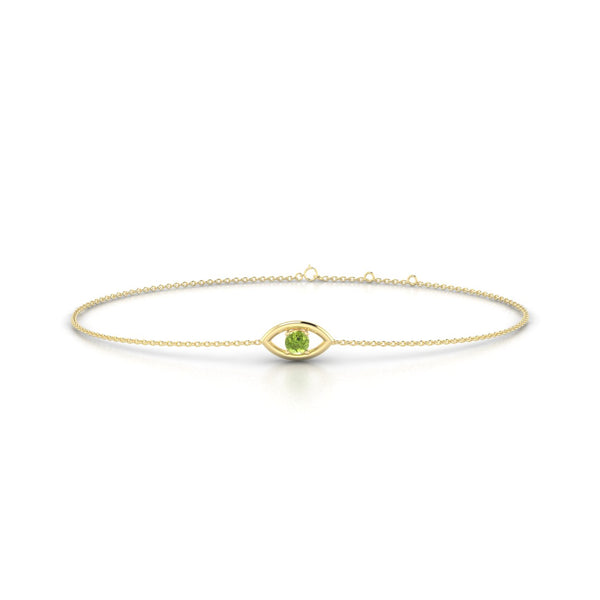 Era Péridot | Ronde 3 mm Or Jaune 18k