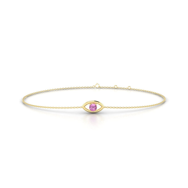Era Saphir rose | Ronde 3 mm Or Jaune 18k