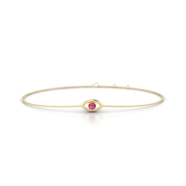 Era Tourmaline rose | Ronde 3 mm Or Jaune 18k