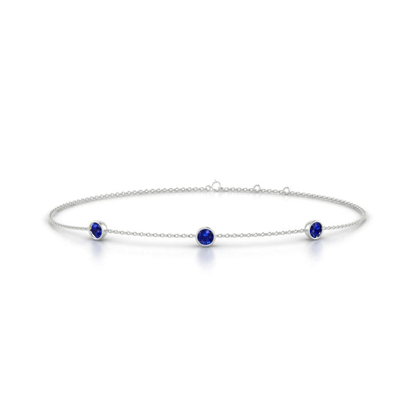 Joie Saphir | Ronde 3 mm Or Blanc 18k