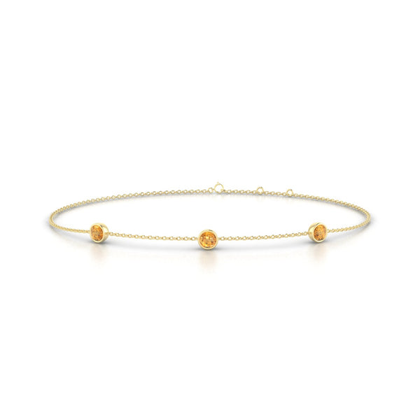 Joie Citrine | Ronde 3 mm Or Jaune 18k