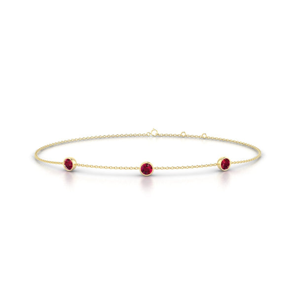 Joie Rubis | Ronde 3 mm Or Jaune 18k