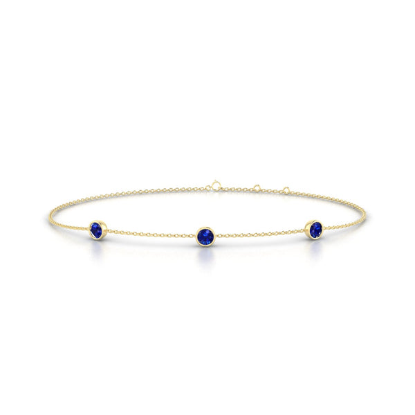 Joie Saphir | Ronde 3 mm Or Jaune 18k