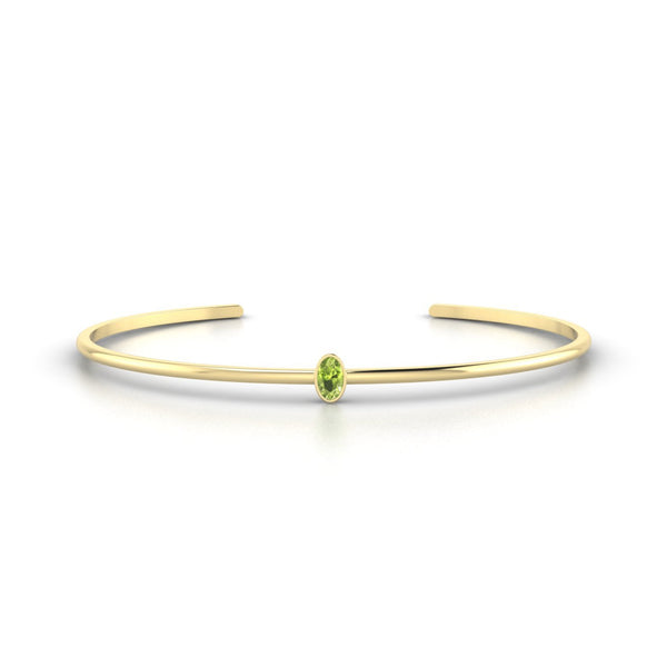 Louna Péridot | Ovale 5 x 3 mm Or Jaune 18k