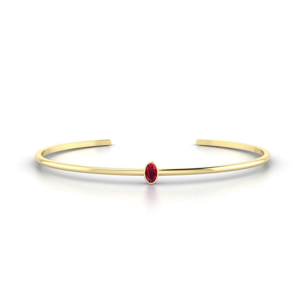 Louna Rubis | Ovale 5 x 3 mm Or Jaune 18k