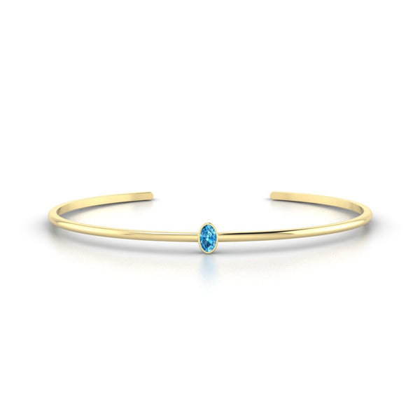 Louna Topaze | Ovale 5 x 3 mm Or Jaune 18k