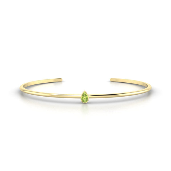 Louna Péridot | Poire 5 x 3 mm Or Jaune 18k
