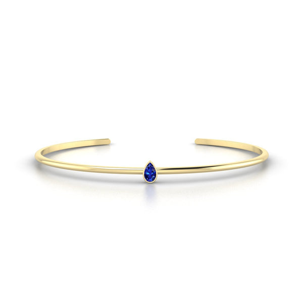 Louna Saphir | Poire 5 x 3 mm Or Jaune 18k