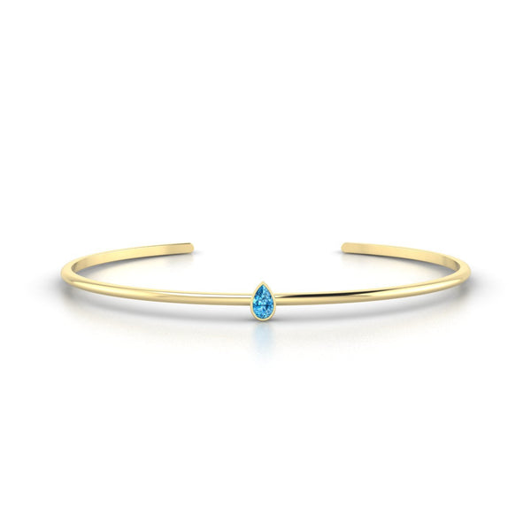 Louna Topaze | Poire 5 x 3 mm Or Jaune 18k