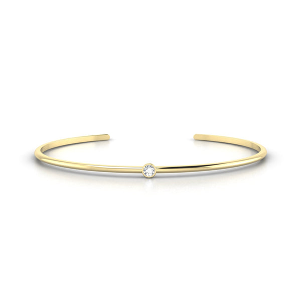 Louna Diamant | 3 mm Or Jaune 18k Ronde