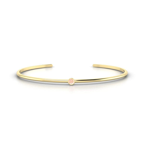 Louna Morganite | 3 mm Or Jaune 18k Ronde