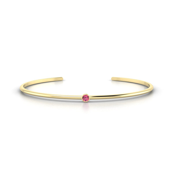 Louna Tourmaline rose | Ronde 3 mm Or Jaune 18k