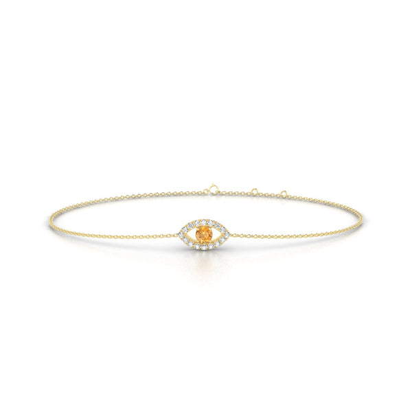 Persia Citrine | Ronde 3 mm Or Jaune 18k