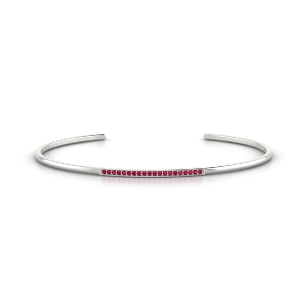 Radieuse Rubis | Ronde 1.1 mm Or Blanc 18k