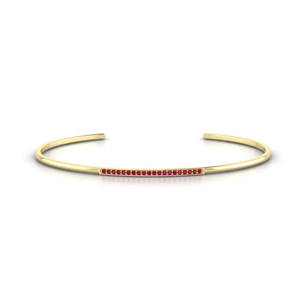 Radieuse Rubis | Ronde 1.1 mm Or Jaune 18k