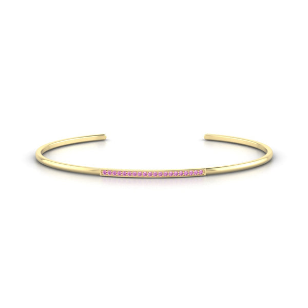Radieuse Saphir rose | Ronde 1.1 mm Or Jaune 18k