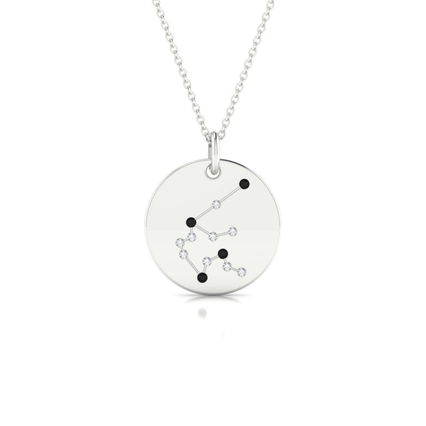 Aquarius Diamant noir | Ronde 1.3 mm Or Blanc 18k