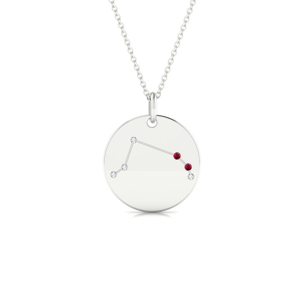 Aries Rubis | Ronde 1.3 mm Or Blanc 18k