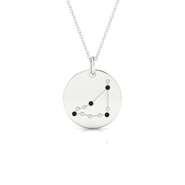 Capricorn Diamant noir | Ronde 1.3 mm Or Blanc 18k