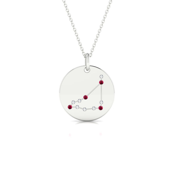 Capricorn Rubis | Ronde 1.3 mm Or Blanc 18k