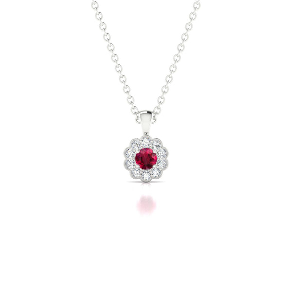 Clelia Rubis | Ronde 3 mm Argent 925