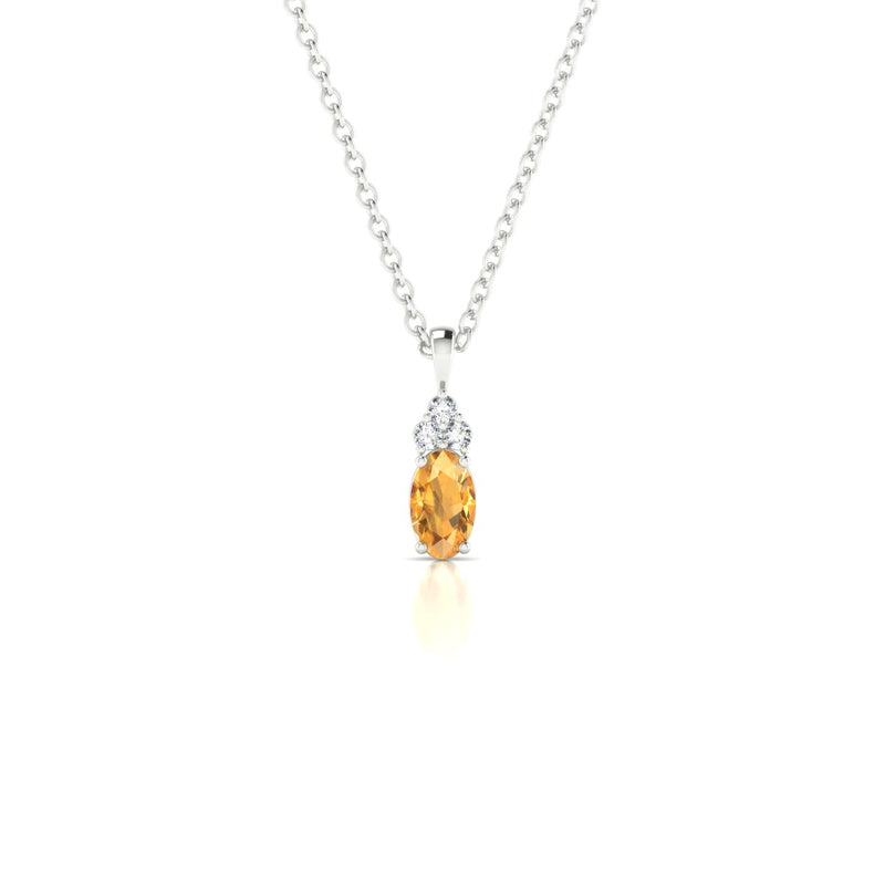 Divine Citrine | Ovale 5 x 3 mm Argent 925
