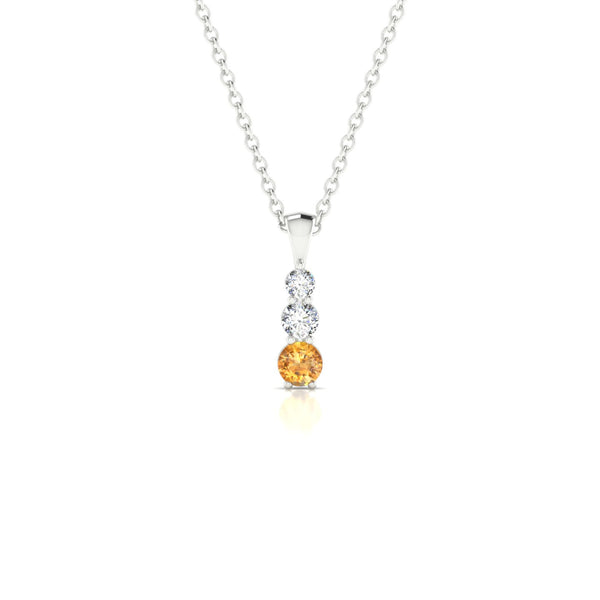 Essence Citrine | Ronde 3 mm Argent 925