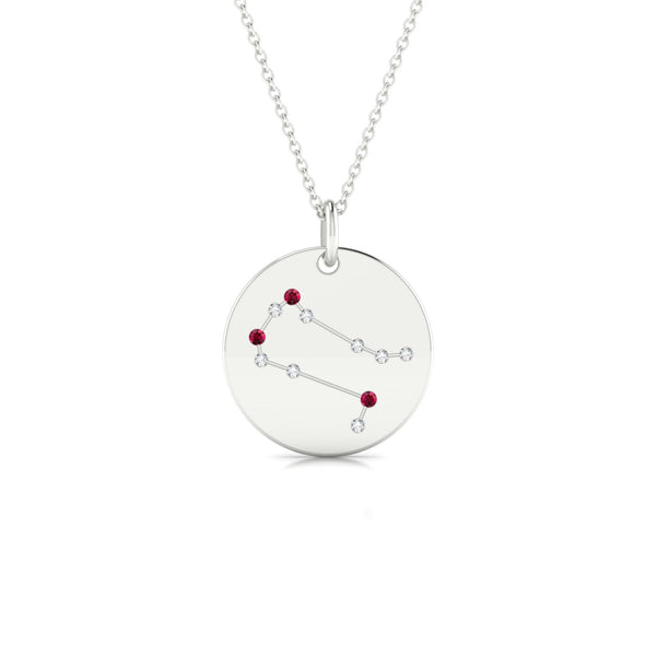 Gemini Rubis | Ronde 1.3 mm Or Blanc 18k