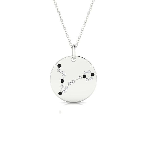 Pisces Diamant noir | Ronde 1.3 mm Or Blanc 18k