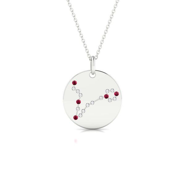 Pisces Rubis | Ronde 1.3 mm Or Blanc 18k