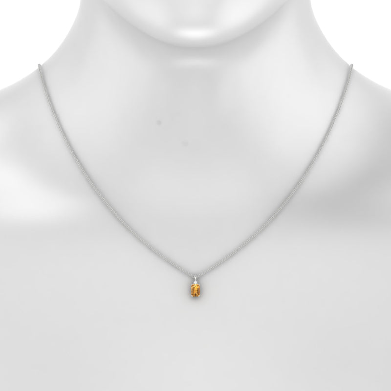Plaisante Citrine | Emeraude 6 x 4 mm Argent 925