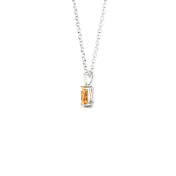 Reverse Citrine | Ovale 5 x 3 mm Argent 925