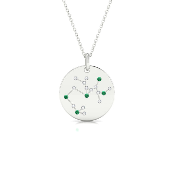 Sagittarius Emeraude | Ronde 1.3 mm Or Blanc 18k