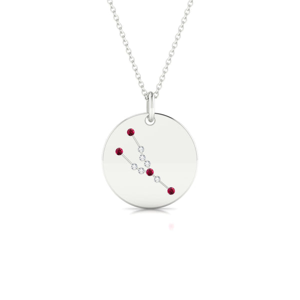 Taurus Rubis | Ronde 1.3 mm Or Blanc 18k