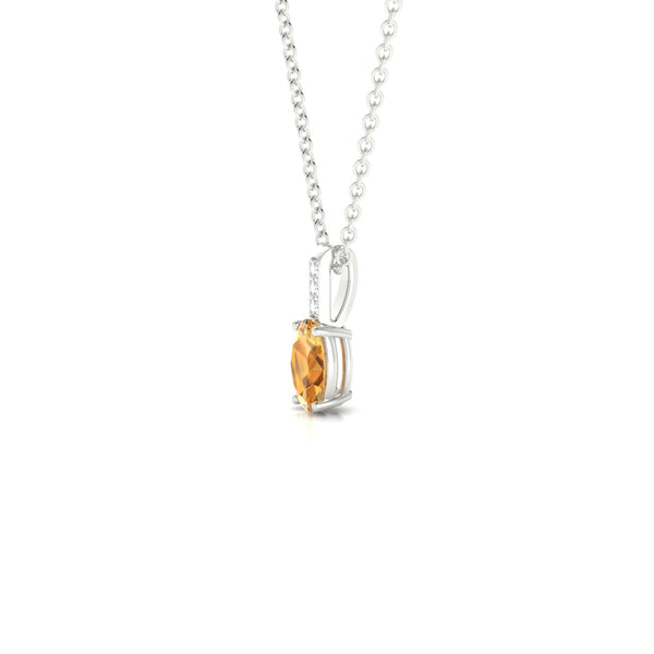 Vera Citrine | Ovale 6 x 4 mm Argent 925