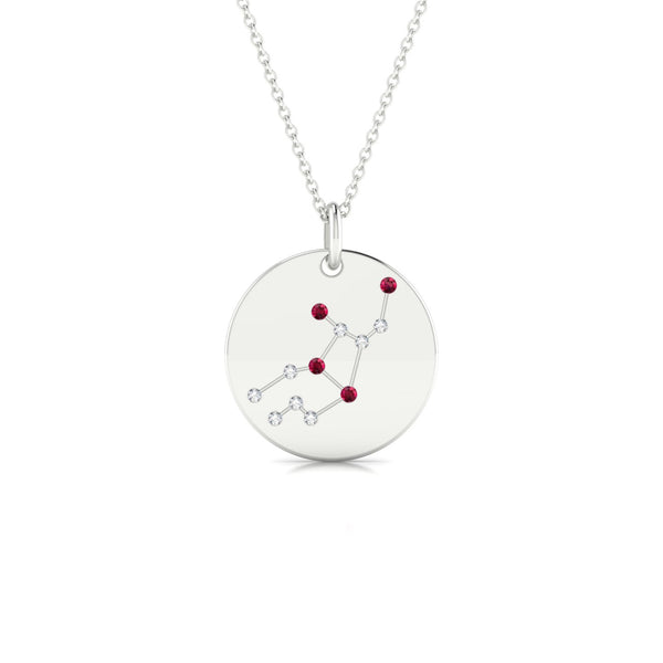 Virgo Rubis | Ronde 1.3 mm Or Blanc 18k