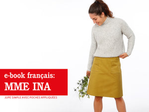 Madame INA • Jupe simple avec poches appliquées