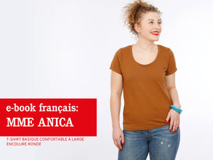Madame ANICA- t-shirt basique confortable à large encolure ronde