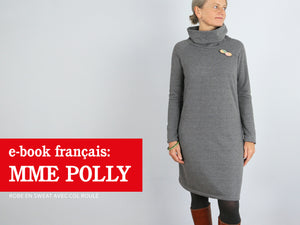 Madame POLLY • Robe en sweat avec col roulé
