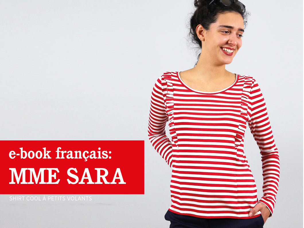 Madame SARA - shirt cool á petits volants