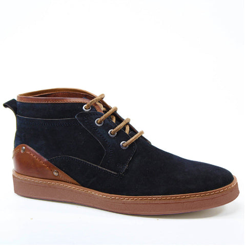 Street style is in and so are the FAR WARD by Testosterone Shoes. These shoes feature a suede and leather combo with a thick sole and lace up vamp.  It's dressy enough for a night out and casual enough for your new every day sneaker.