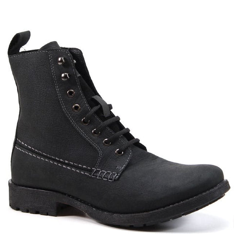Looking for a structured work boot? Testosterone has mastered this boot that will always be in style. This boot offers a lace up vamp with two hooks at the top to give alternating looks. A bold stitch detail along the sides adds just the right amount of detail to this boot.