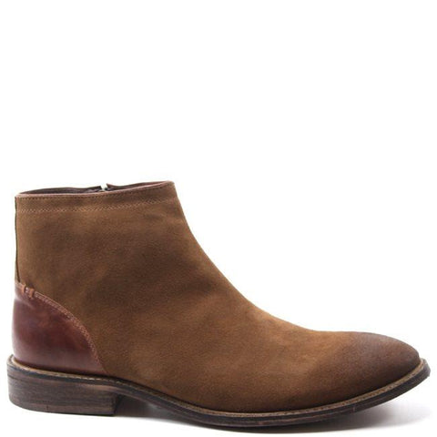 The JUST US boot by Testosterone Shoes takes a timeless, sleek silhouette to a new level. The classy combination of leather and suede and slightly distressed toe are an ideal match for casual and dressier outfits. The hidden side zip closure and sturdy outsole provide versatility and comfort you are sure to love.