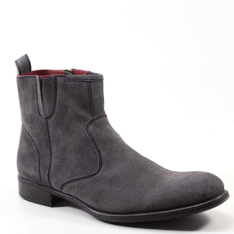 Boots don't have to be boring NOW DAZE, thanks to Testosterone Shoes. This snappy ankle boot features contrasted stitching throughout, a side zip for easy entry and gore at the top for extra comfort.